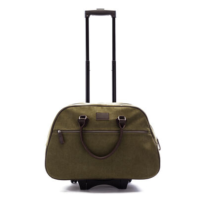 """Brouk & Co. """"Mid-City"""" Green Waxed Canvas Rolling Backpack"""