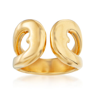 Italian Andiamo 14kt Yellow Gold Open-Heart Ring