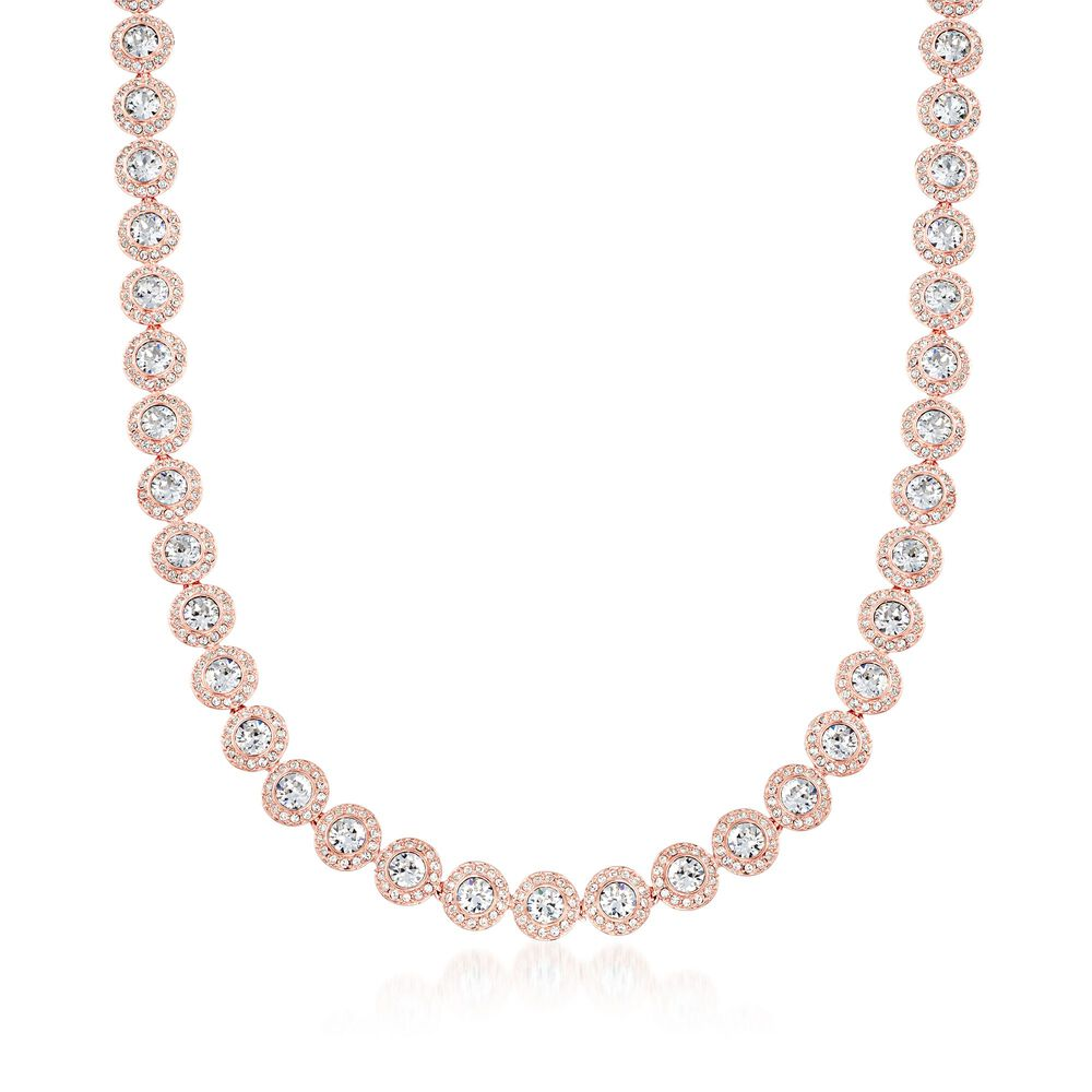 22fee8f37 Swarovski Crystal Angelic Round Collar Necklace In Rose. Swarovski Angelic  Square Rose Gold Plated ...