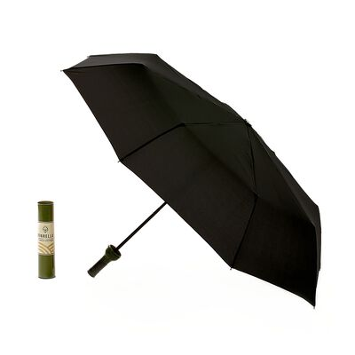 Green-Labeled Wine Bottle Umbrella