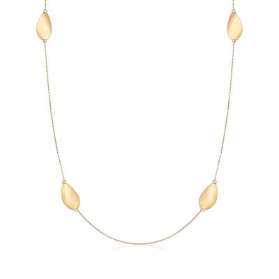 Italian Station Necklace in 18kt Yellow Gold, , default