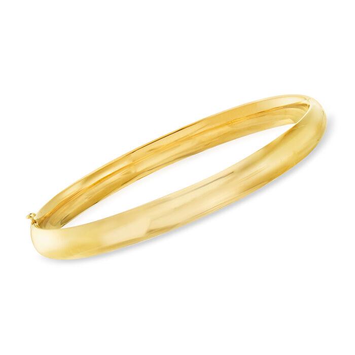 14kt Yellow Gold Polished Bangle Bracelet