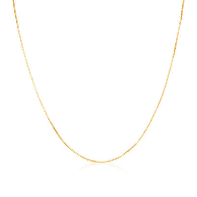 .8mm 14kt Yellow Gold Adjustable Box Chain Necklace, , default