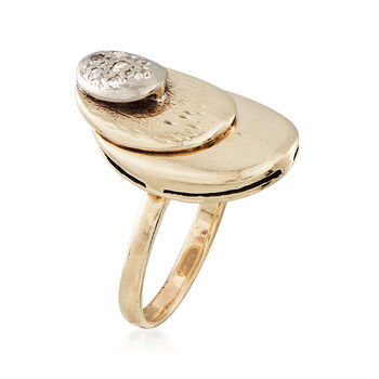 C. 1980 Vintage .10 ct. t.w. Diamond Ring in 14kt Yellow Gold. Size 6