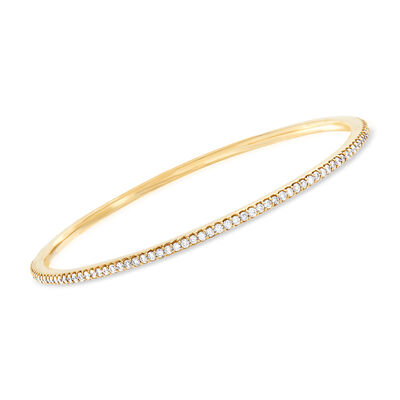 2.00 ct. t.w. Diamond Bangle Bracelet in 14kt Yellow Gold