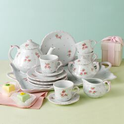 "Child's ""Sweet Rose"" Porcelain Tea Set, , default"