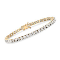 8.00 ct. t.w. Diamond Tennis Bracelet in 14kt Yellow Gold, , default