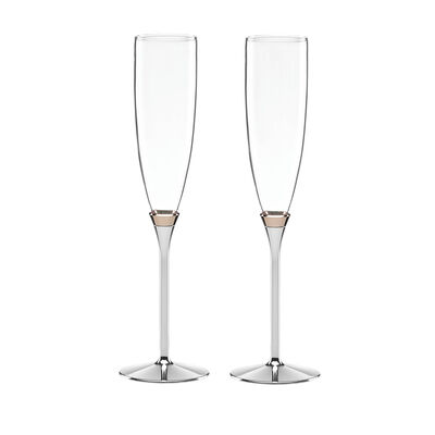 "Kate Spade New York ""Rosy Glow"" Set of Two Champagne Flutes , , default"