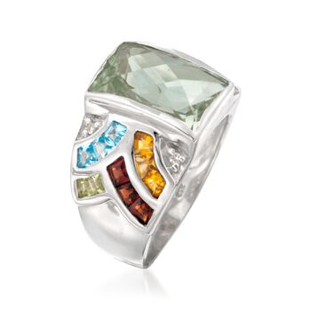 6.40 ct. t.w. Multi-Stone Mosaic Ring in Sterling Silver, , default