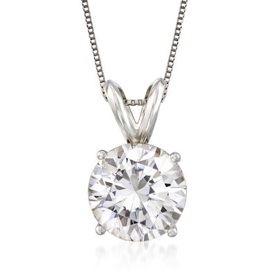 2.00 Carat Diamond Solitaire Pendant Necklace in Platinum, , default