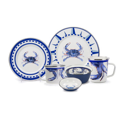"Golden Rabbit ""Blue Crab"" Dinnerware, , default"