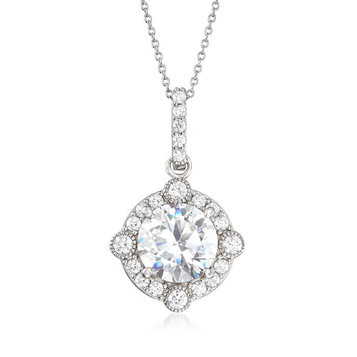 5.80 ct. t.w. CZ Pendant Necklace in Sterling Silver