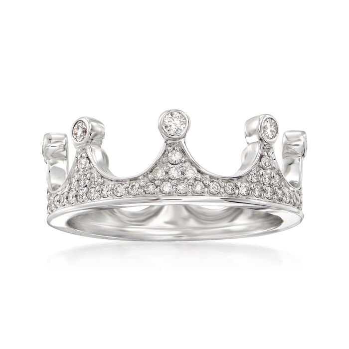 .69 ct. t.w. Diamond Crown Ring in 14kt White Gold, , default