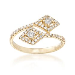 .52 ct. t.w. Diamond Bypass Ring in 18kt Yellow Gold, , default