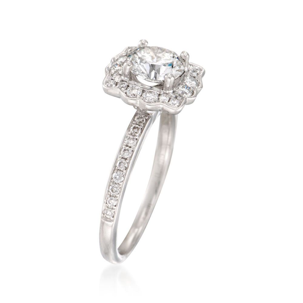 1.47 ct. t.w. Certified Diamond Engagement Ring in 18kt ... - photo #42
