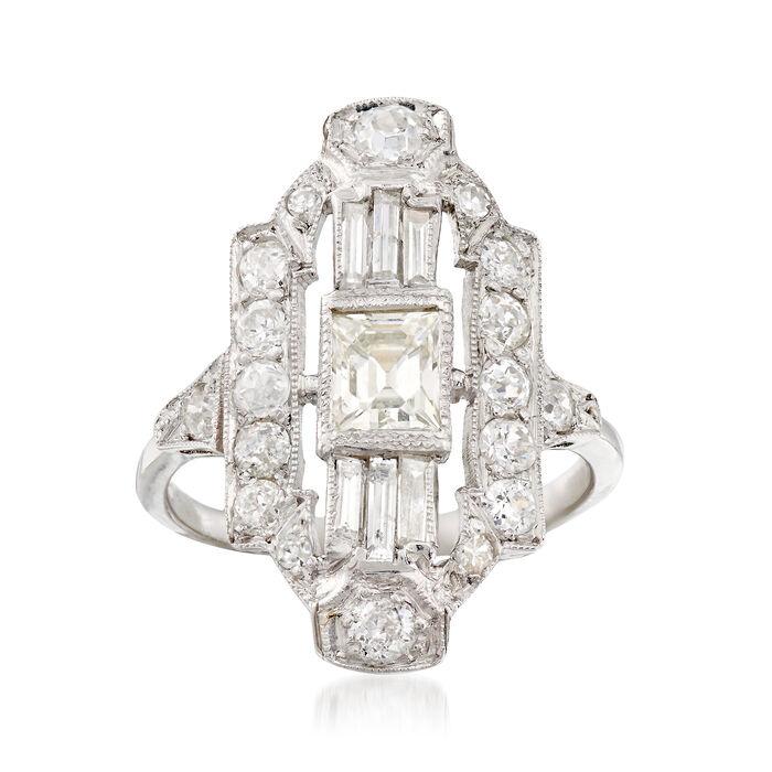 C. 1960 Vintage 1.87 ct. t.w. Diamond Dinner Ring in Platinum. Size 6