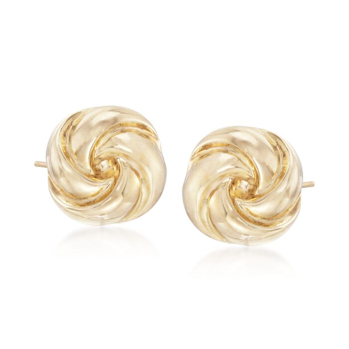 14kt Yellow Gold Polished Knot Earrings
