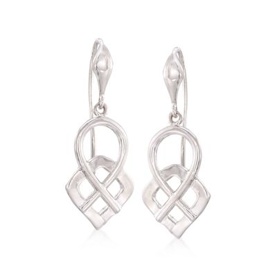 Zina Sterling Silver Infinity Loop Drop Earrings, , default