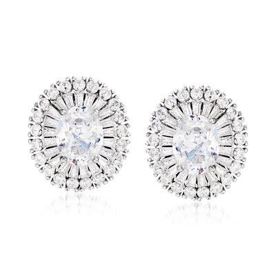 6.10 ct. t.w. CZ Earrings in Sterling Silver