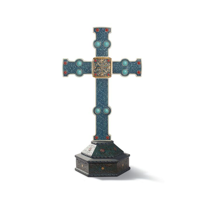 """Lladro """"Romanesque Cross"""" Porcelain Figurine, , default"""