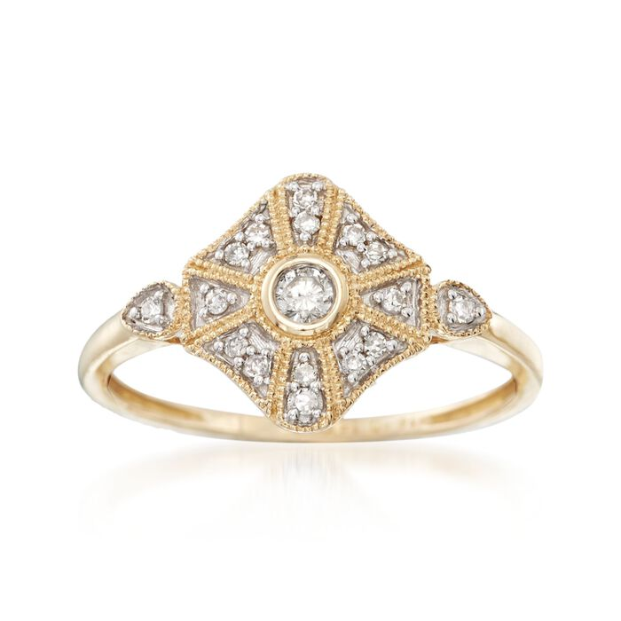 .13 ct. t.w. Diamond Ring in 14kt Yellow Gold, , default