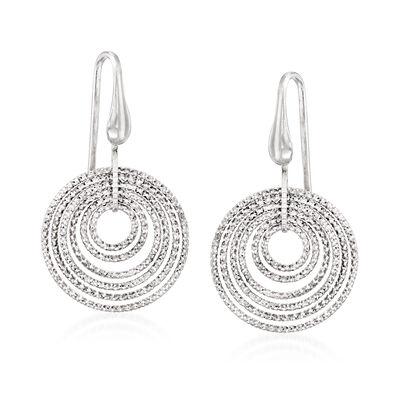 """Charles Garnier """"Saturnia"""" Multi-Circle Drop Earrings in Sterling Silver , , default"""