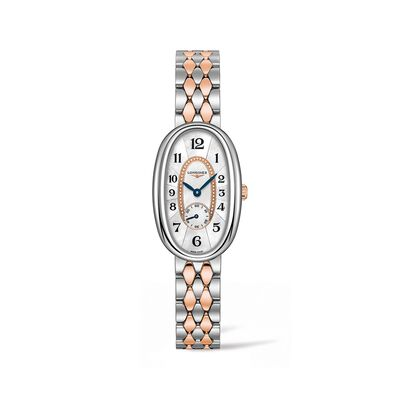 Longines Symphonette Women's 22x34mm Stainless Steel and 18kt Rose Gold Watch, , default