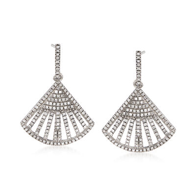 .40 ct. t.w. Diamond Triangle Drop Earrings in Sterling Silver, , default