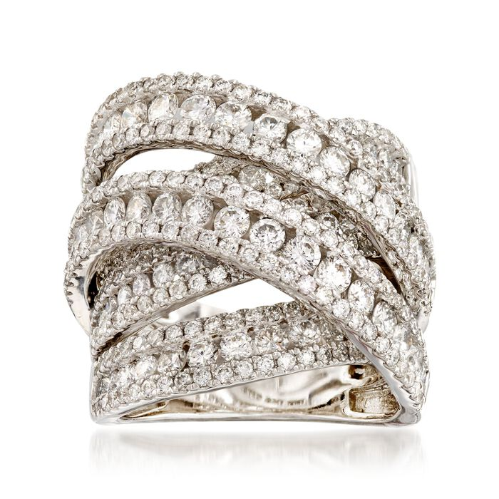 5.00 ct. t.w. Diamond Sash Ring in 14kt White Gold, , default