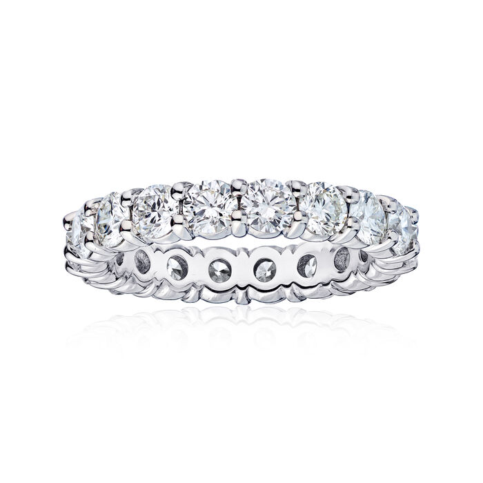 3.61 ct. t.w. Diamond Wedding Eternity Band in 14kt White Gold, , default