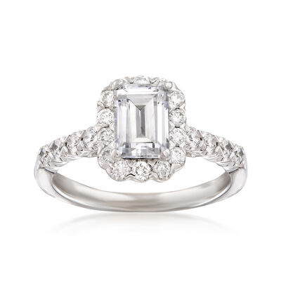.67 ct. t.w. Diamond Engagement Ring Setting in 14kt White Gold, , default