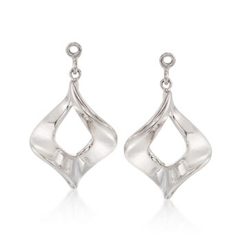 Sterling Silver Twist Drop Earring Jackets, , default