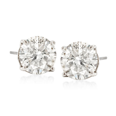2.40 ct. t.w. Diamond Stud Earrings in 14kt White Gold, , default