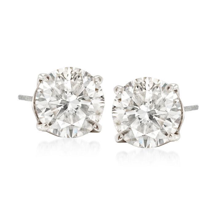 2.40 ct. t.w. Diamond Stud Earrings in 14kt White Gold, , default