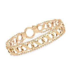 14kt Yellow Gold Infinity-Link Bracelet, , default