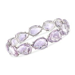 135.00 ct. t.w. Amethyst Bangle Bracelet in Sterling Silver, , default