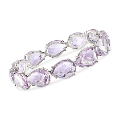 135.00 ct. t.w. Amethyst Bangle Bracelet in Sterling Silver, , default