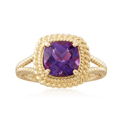 1.80 Carat Amethyst Ring in 14kt Yellow Gold, , default