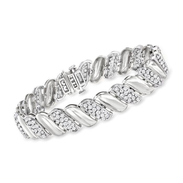 5.00 ct. t.w. Diamond San Marco Bracelet in 14kt White Gold