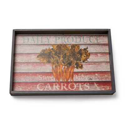 """Farm to Table"" Wooden Serving Tray, , default"