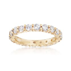 1.80 ct. t.w. CZ Eternity Band in 14kt Yellow Gold, , default
