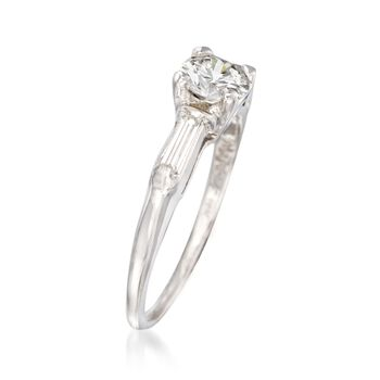 C. 1950 Vintage .67 ct. t.w. Diamond Engagement Ring in 14kt White Gold. Size 5.5, , default