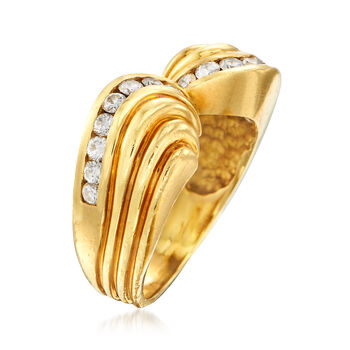 C. 1980 Vintage .80 ct. t.w. Diamond Ring in 18kt Yellow Gold. Size 8