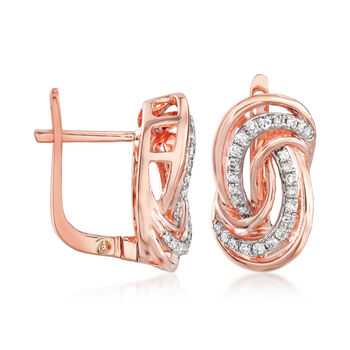 .21 ct. t.w. Diamond Swirl Earrings in 14kt Rose Gold, , default