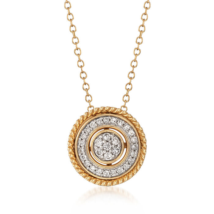 .25 ct. t.w. Diamond Convertible Pendant Necklace in 14kt Yellow Gold