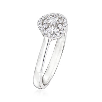 C. 1990 Vintage Piero Milano .20 ct. t.w. Diamond Cluster Ring in 18kt White Gold. Size 6.75, , default