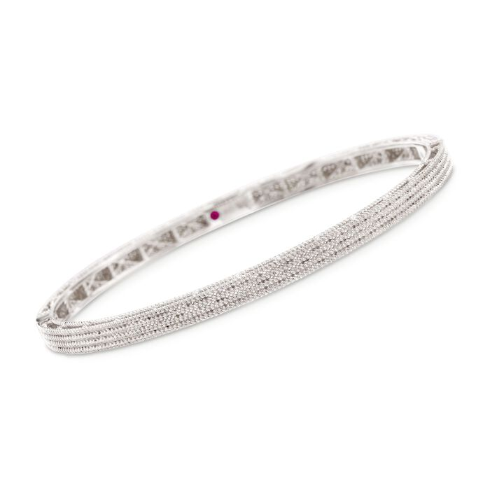 "Roberto Coin ""Symphony"" Barocco Bangle Bracelet in 18kt White Gold. 7"", , default"
