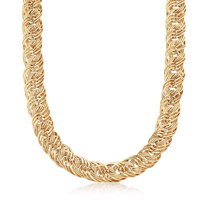 """14kt Yellow Gold Multi-Link Necklace. 18"""""""