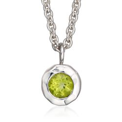 "Zina Sterling Silver ""Sahara"" .50 Carat Peridot Pendant Necklace. 17"", , default"