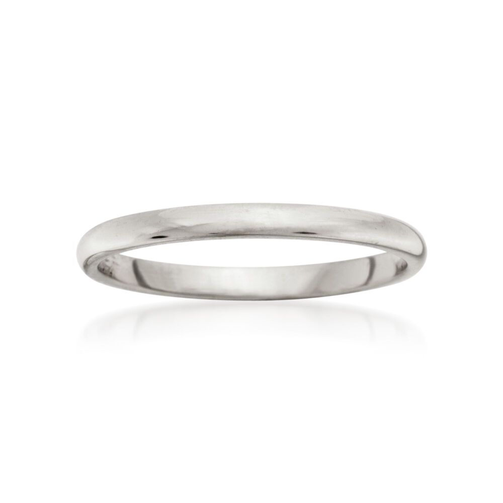 Women S 2mm 14kt White Gold Wedding Ring Default